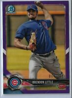 2018 Bowman Chrome Purple Parallel Brendon Little 064/250 Chicago Cubs