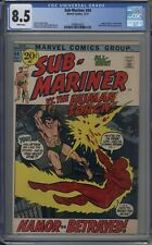 Sub-Mariner # 44 CGC 8.5 White Pages Human Torch Appearance
