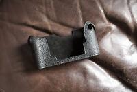 Handmade Genuine Real Leather Half Camera Case Bag Cover for Nikon F3 Black