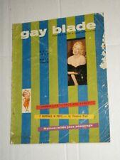 Vintage GAY BLADE Mens Magazine Vol 2 #2 October 1957