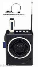 RADIO FM KARAOKE USB CAISSE BAFFLE MP3 SD RECHARGEABLE AVEC TORCHE ET MICRO