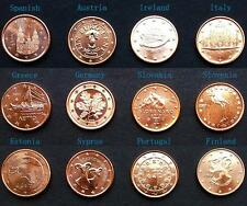 EU Coins Set, 12pcs, 1 Euro Cent (UNC) 全新欧盟12国1欧分硬币