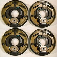 "4- (2 Pair) 10"" x 2.25"" Complete Electric Trailer Brake Backing Plates 3500#"