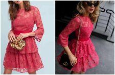Anthropologie ML Monique Lhuillier Embellished Rose Dress $495 Sz 8 - NWT