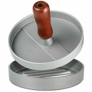 Burger Press Hamburger Maker Non Stick Aluminium Patty Meat BBQ Mould 12cm uk