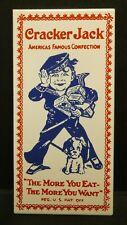 "Dollhouse Miniatures Metal Sign Advertising Cracker Jack 1 1/4"" x 2 3/4"""
