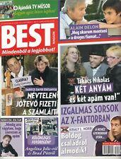 ALAIN DELON,SANDRA BULLOCK,ANGELINA  JOLIE  Hungarian magazine