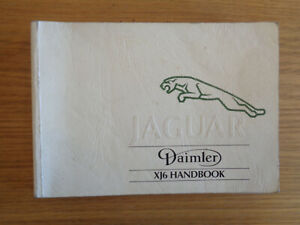 Jaguar XJ6 XJ Owners Handbook/Manual 88-93