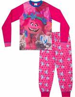 Girls Trolls Movie Pyjamas POPPY Dreamworks Long Pyjama Set PJ 6 to 12 Years