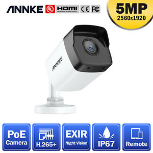 ANNKE 1pcs Bullet 5mp CCTV IP PoE Camera for Home Security System Kit IP67 Night