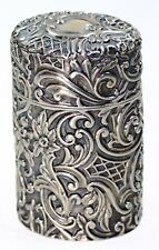 Antique English Sterling Silver Scent Perfume Holder~H Matthews 1893