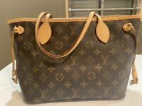 Louis Vuitton Monogram Neverfull pm Tote Bag Brown Auth MM4960