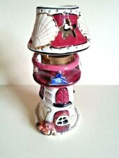 Ceramic Porcelain Lighthouse Tealight Seaside Figurine New