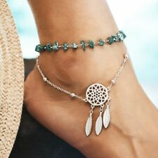 Summer Boho Turquoise Dream Catcher Anklet Ankle Bracelet Women Foot Jewelry NEW