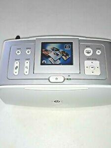 """WORKING HP Photosmart 385 4x6"""" Digital Photo Inkjet Printer Q6387L W POWER CORD"""