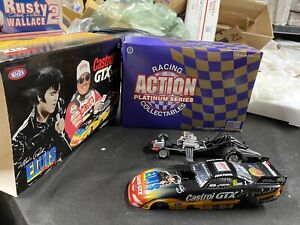 New Action John Force Castrol/Elvis 1998 Mustang Funny Car 1:24 Limited Edition