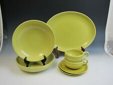 Lot of 7 Russell Wright Iroquois Casual China AVOCADO/YELLOW Assorted Pieces EX