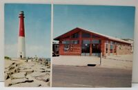 NJ Long Beach Island THE WHALE'S RIB, & Barnegat Light Postcard D15