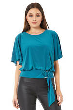 Roman Originals Women's Double Ring Belt Blouson Top