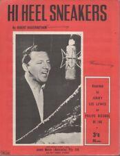 """JERRY LEE LEWIS  Rare 1964 Aust Only OOP Original Sheet Music """"Hi Heel Sneakers"""""""