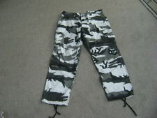 Military White Gray Black Cargo Camouflage Trousers Long-Regular  Excellent