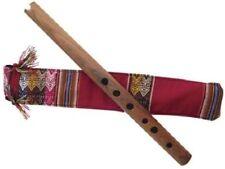 Quena Handmade Andean Flute & Handmade Bag. 38cm Unique