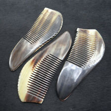 Random 1pcs Natural Ox Horn Hair Beard Comb Antistatic Health Combs about 5 Inch