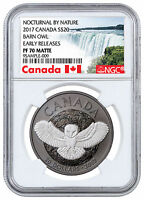 2017 Canada Barn Owl Silver Rhodium-Plated NGC PF70 ER Exclusive Label SKU46579