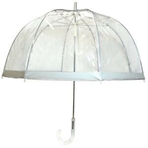 London Fog Dome Shaped Clear Bubble Umbrella NWT