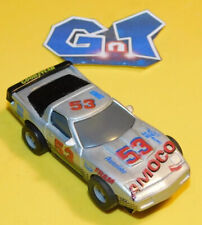 MARCHON CHEVY CORVETTE AMOCO SILVER #53 Slot Car HO Running Chassis