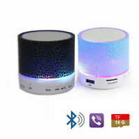 Portable LED Bluetooth Wireless Mini Speaker Bass for MP3 iPhone iPad TF USB AUX