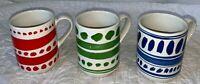 Lenox Kate Spade Set of 3 Red Blue Green Mugs Cups