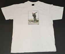 Etnies Skateboarding VTG 90s Mikey & Malto White Photo T Shirt Mens L USA