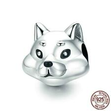 925 Sterling Silver Lovely Husky Fox Cub  Charm Beads.  20 To 40 Days Delivery