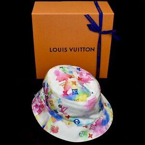 NWT Louis Vuitton Rainbow Watercolor Monogram Reversible Bucket Hat AUTHENTIC