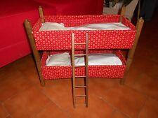 Ancien lit superposé en bois pour poupée jouet ancien