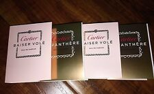 Lot/4 CARTIER La Panthere & Baiser Vole .05 oz/1.5 Eau de Parfum Perfume Samples
