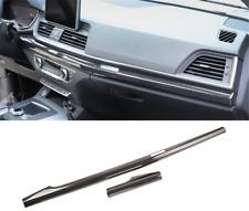 For Audi Q5 2018-2020 Carbon Fiber Look Center Console Decorative Strip Trim