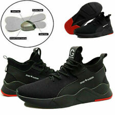 MENS SAFETY BOOTS TRAINERS MESH SHOES WORK STEEL TOE CAP HIKER UK SIZE 7-11 UK
