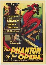 CLASSIC VINTAGE MOVIE POSTERS COLLECTOR CARD PHANTOM OF THE OPERA 5 CARD SET