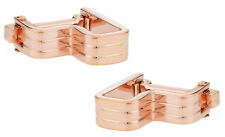 Step Ribbed Rose Gold Cufflinks Direct from Cuff-Daddy