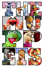The Muppets Letters T-Shirt Boys Girls Kids Age 3-15 Ideal Gift/Present