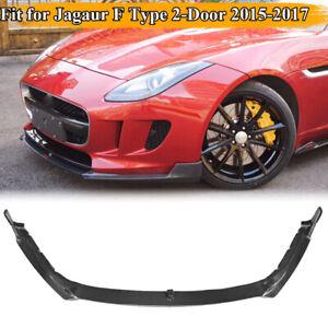 Fit For Jaguar F Type 2Door 2015-2017 Front Bumper Lip Spoiler Carbon Fiber