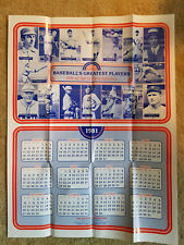 1981 Baseball's Greatest Players Hall Of Fame '36-'42 Calendar Poster