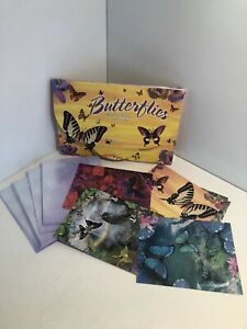 Lot of 17 Brilliant Color BUTTERFLY Assorted GREETING CARDS & Envelopes