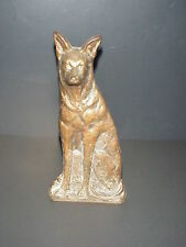 Antique Cast Iron Dog Doorstop German Shepard