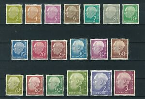 Germany 1954 President Heuss stamps. Mint. Sg 1103-1122.