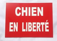 """Adhesive Sign """" Dog IN Freedom Feat 20 X 30 CM"""