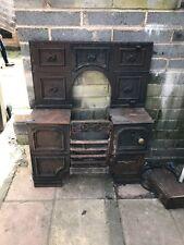 Antique Victorian Cast Iron Kitchen Cooking Range Fireplace Hob