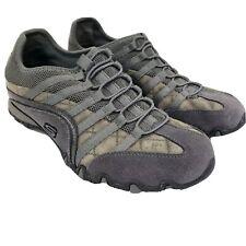 SKECHERS Women's Shoes Sneakers 6M Straight Away Biker Gray Slip-Ons SN 21374